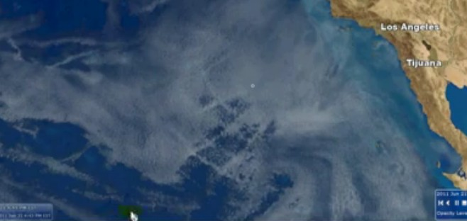 Chemtrails Caught On Satellite
