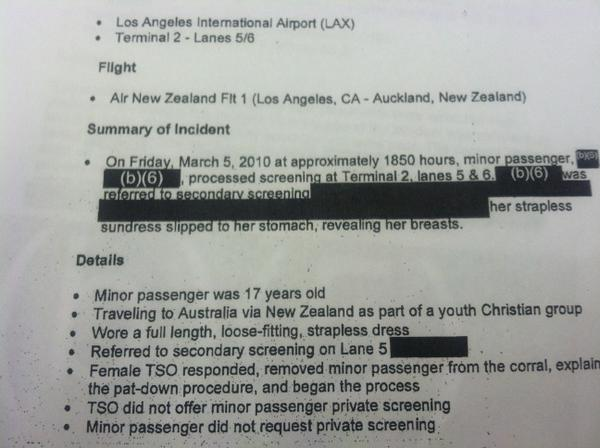 TSA Documents Use The Word 'Corral'