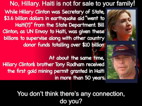 Hillary's Haitian Legacy (And A Possible American Future)