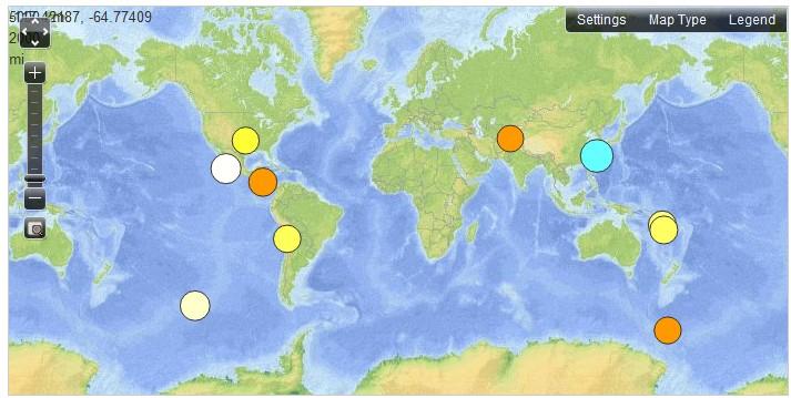 6.9 Earthquake NE Of Taiwan, 11.7.2011
