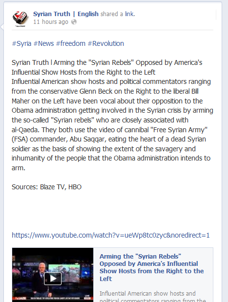 Syrian Truth Facebook Page